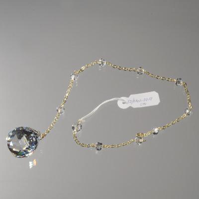 Závěs s koulí 30 mm a perličkami, délka 45 cm